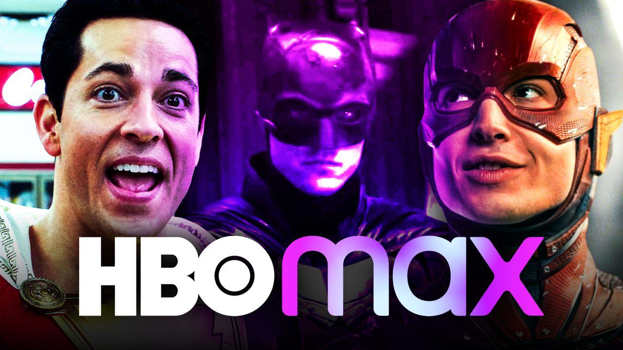 Shazam, Batman, Flash, HBO Max logo