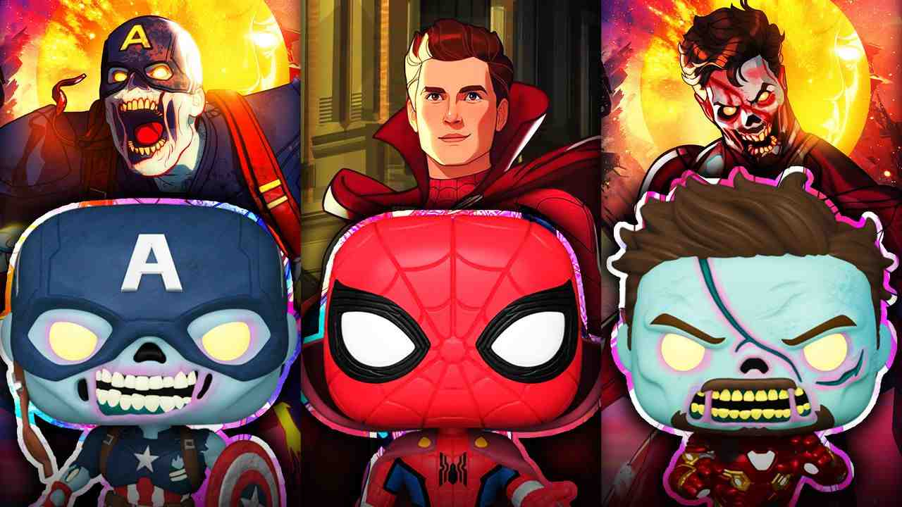 Captain America, Spider-Man, Iron Man, Zombies, Funkos