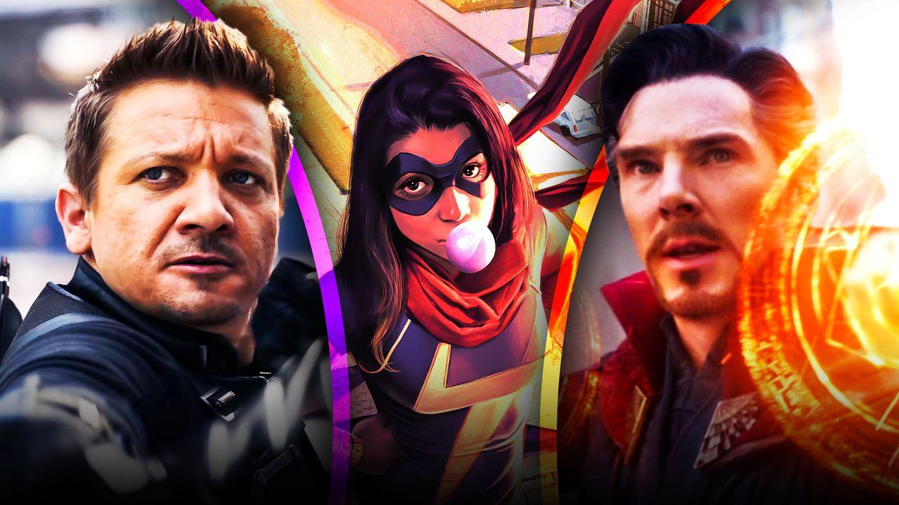 Doctor Strange, Hawkeye, and Ms Marvel