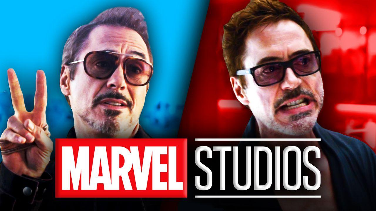 Marvel Studios logo, Robert Downey Jr. as Tony Stark