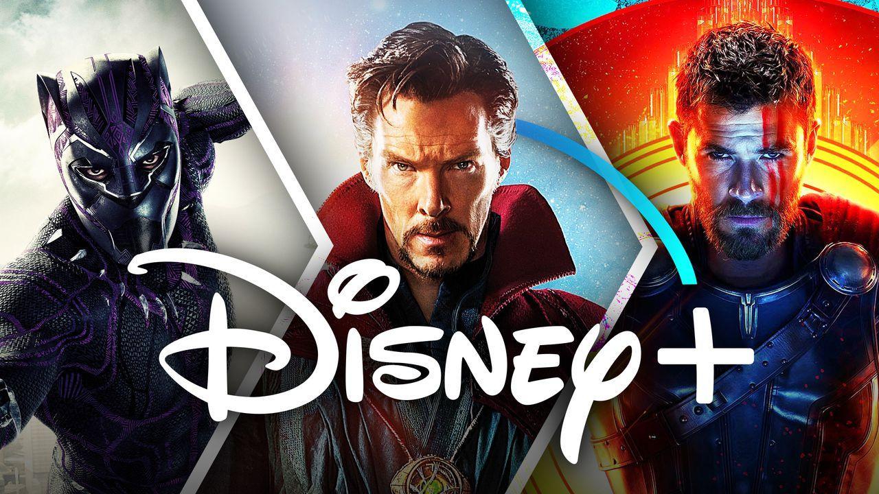 Disney+ logo, Black Panther, Doctor Strange, Thor