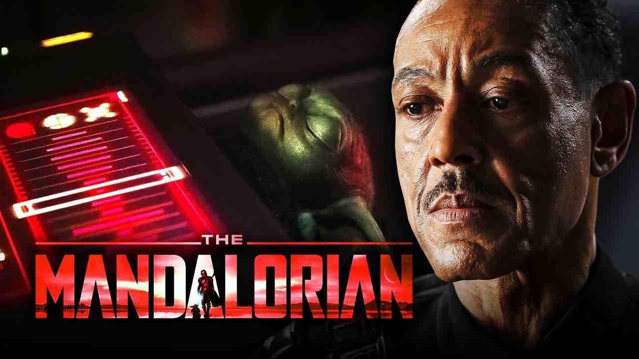 Giancarlo Esposito as Moff Gideon, Baby Yoda, The Mandalorian logo