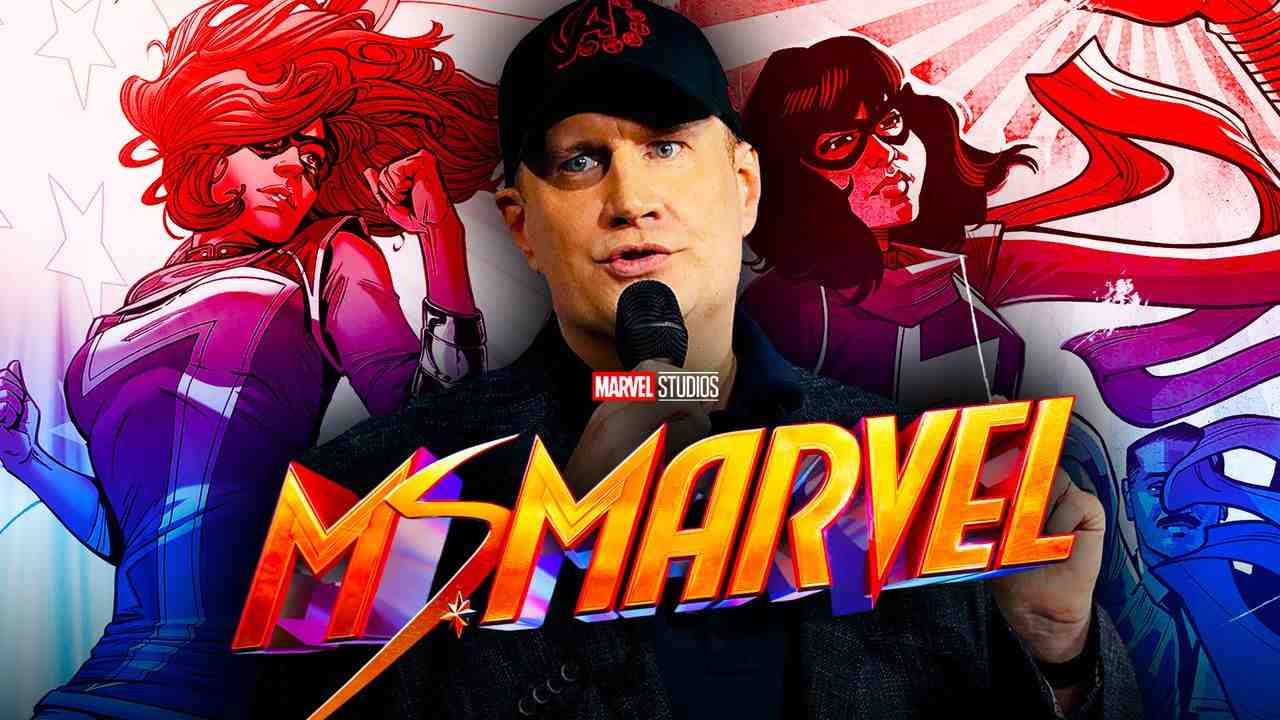 Kevin Feige with Ms Marvel Comics