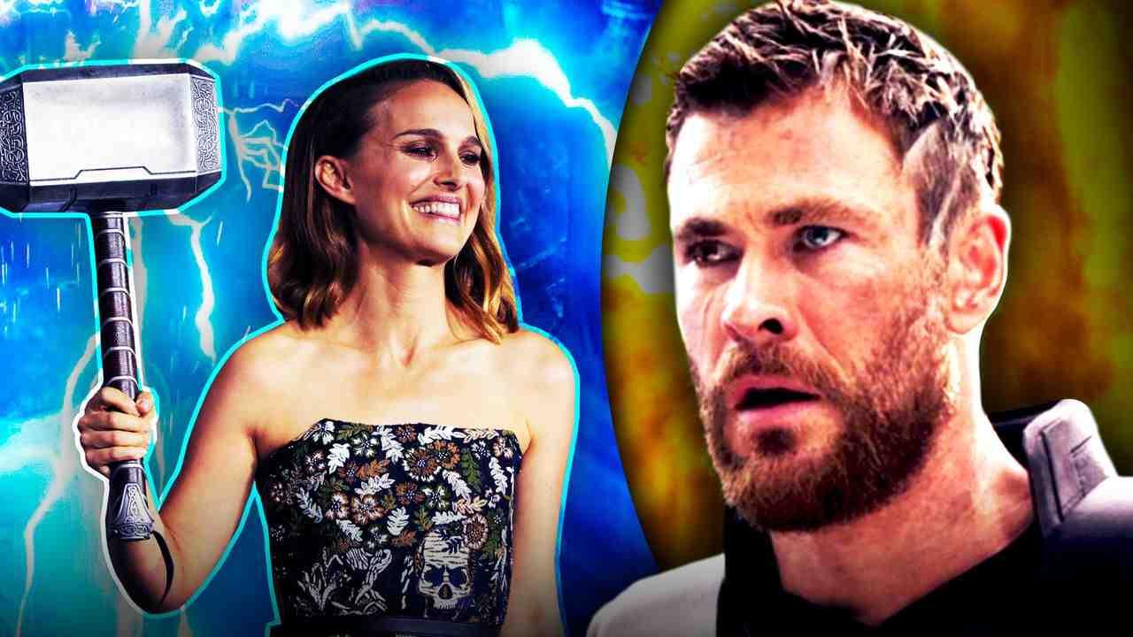 Natalie Portman as Jane Foster, Chris Hemsworth as Thor