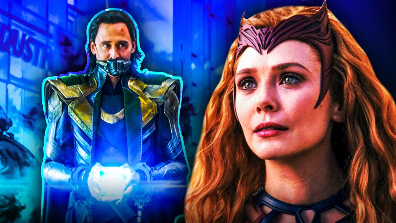Tom Hiddleston as Loki, Elizabeth Olsen as Wanda Maximoff