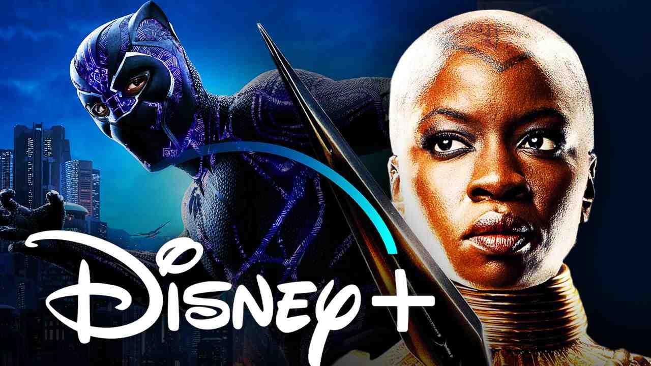 Black Panther Okoye Disney Plus logo