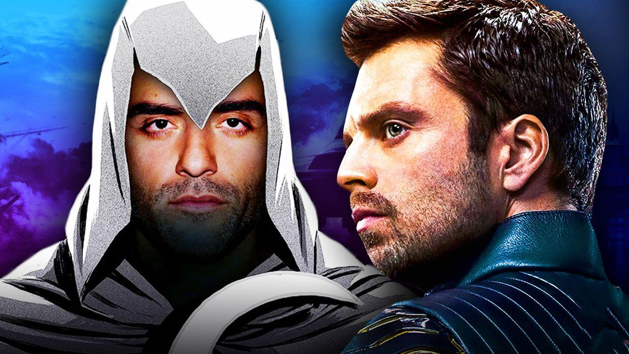 Oscar Isaac as Moon Knight, Sebastian Stan from The Falcon and the Winter Soldier