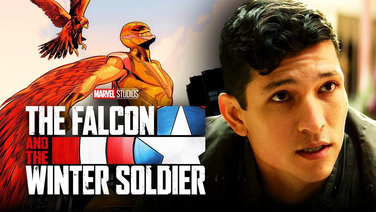 Falcon and Winter Soldier logo, Danny Ramirez as Joaquin Torres, Falcon