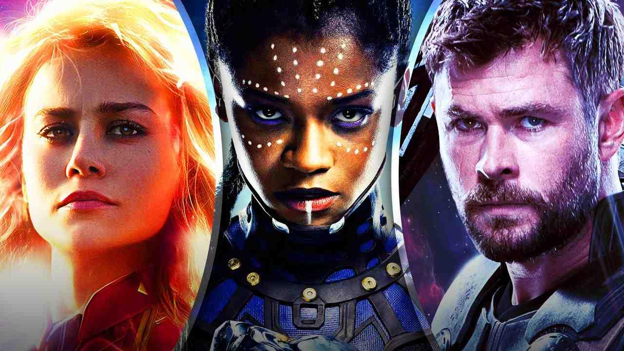 Carol Danvers, Shuri, and Thor