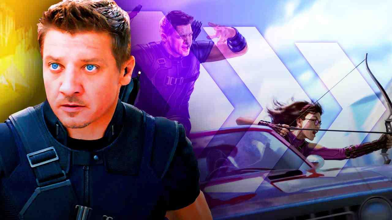 Jeremy Renner as Hawkeye, Kate Bishop in car concept art
