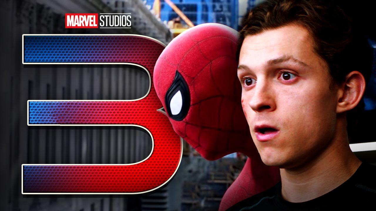 3 logo, Spider-Man, Tom Holland's Peter Parker