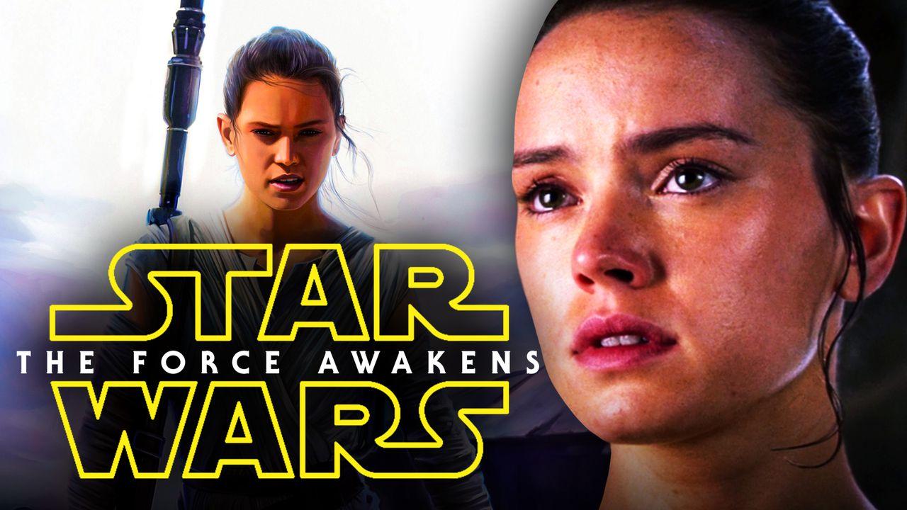 Daisy Ridley Rey Star Wars The Force Awakens logo