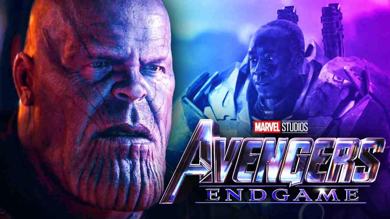 Thanos Rhodey War Machine