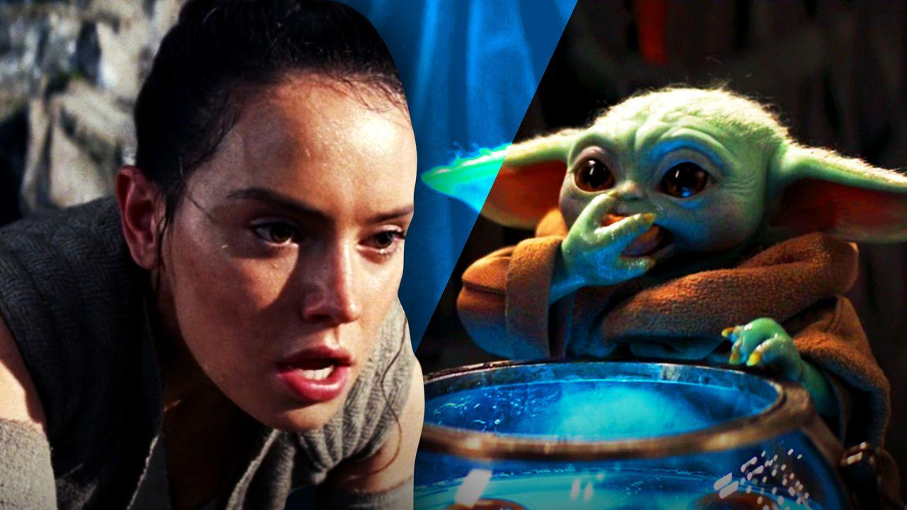 Rey and Baby Yoda