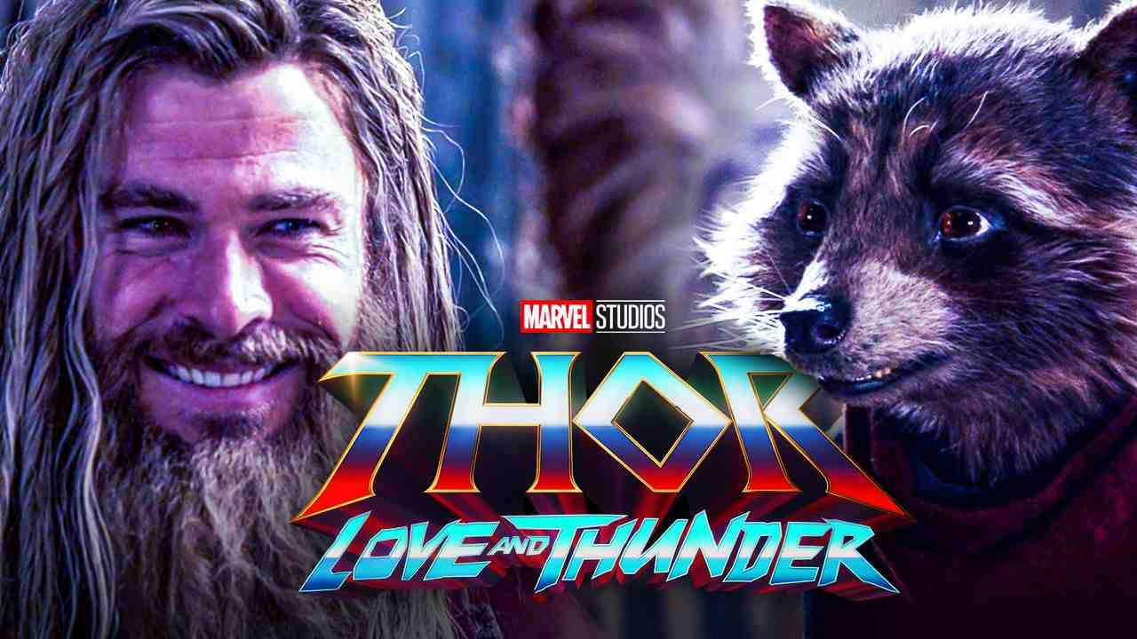Thor and Rocket, Thor Love and Thunder logo