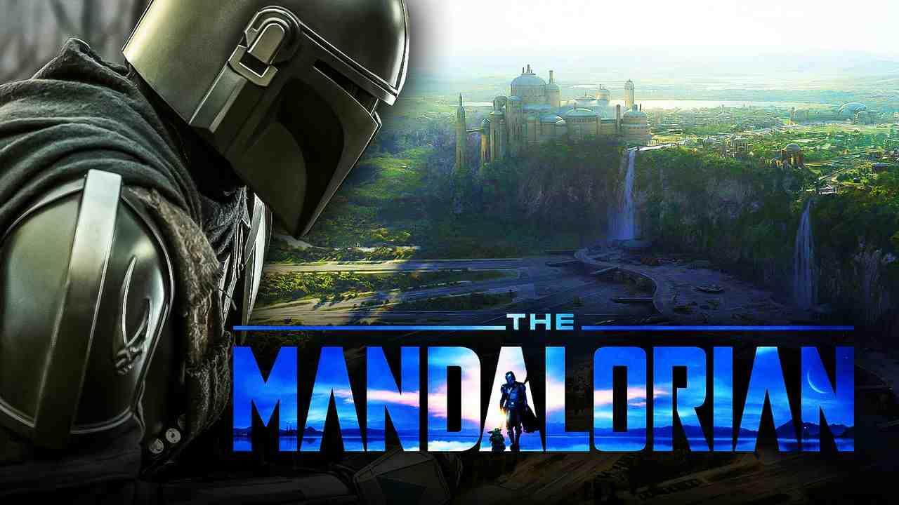 The Mandalorian logo, helmet