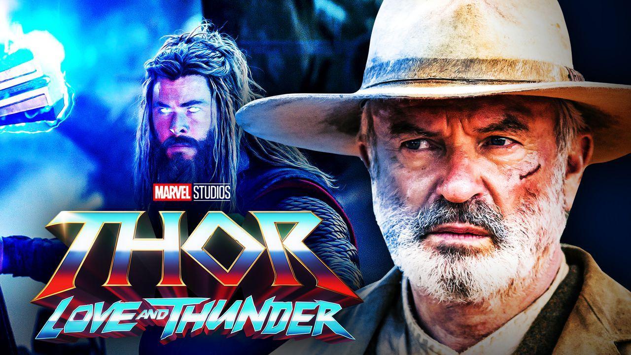 Sam Neill, Thor: Love and Thunder logo, Chris Hemsworth as Thor
