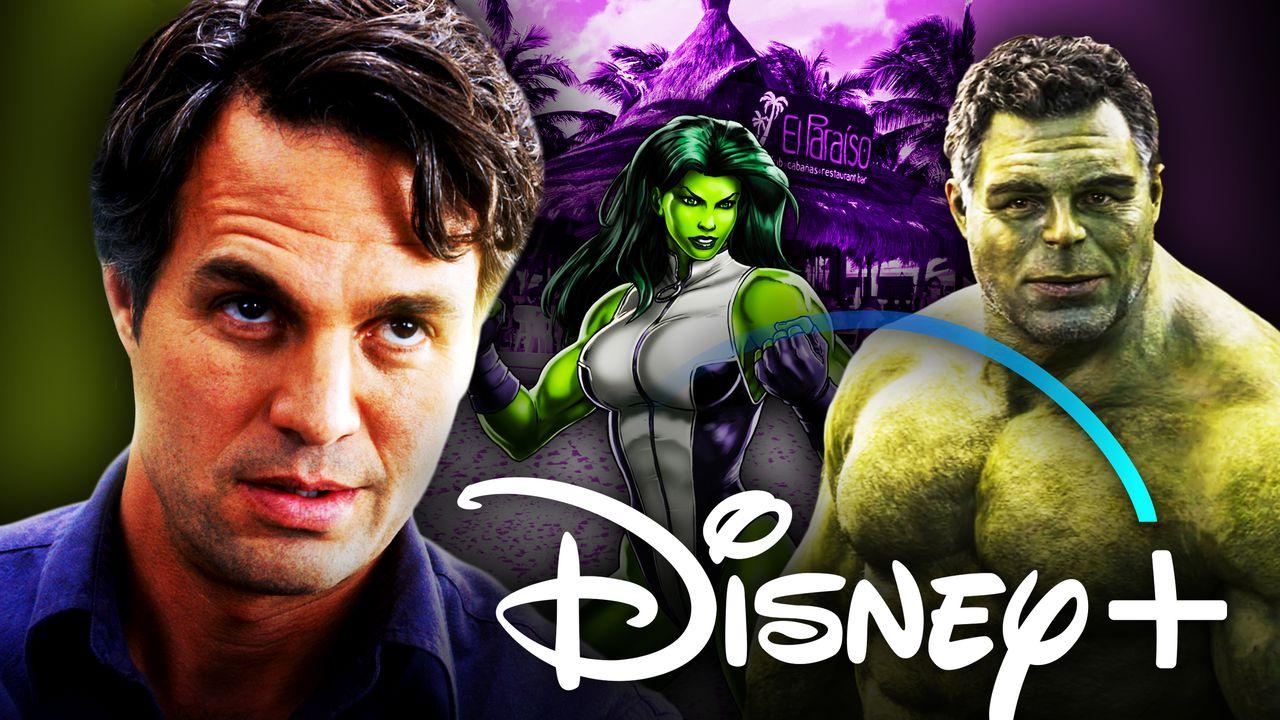 Mark Ruffalo as Hulk, Disney+ logo