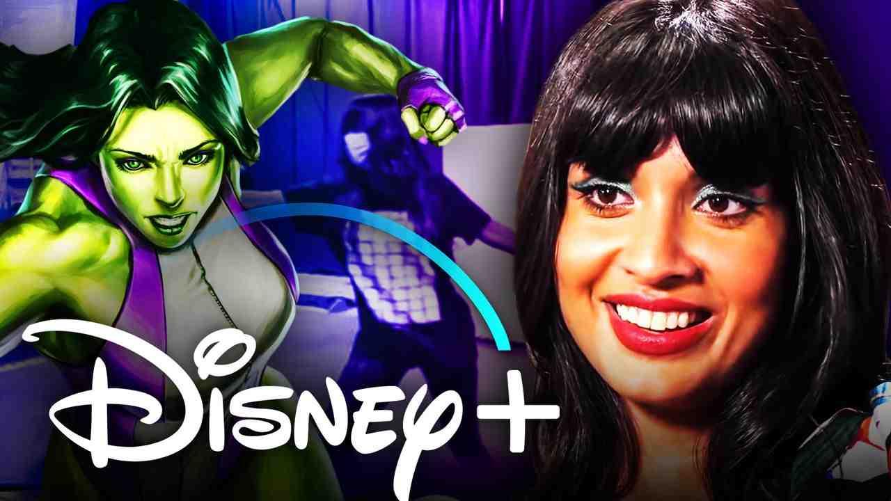 She-Hulk Jameela Jamil Disney Plus logo