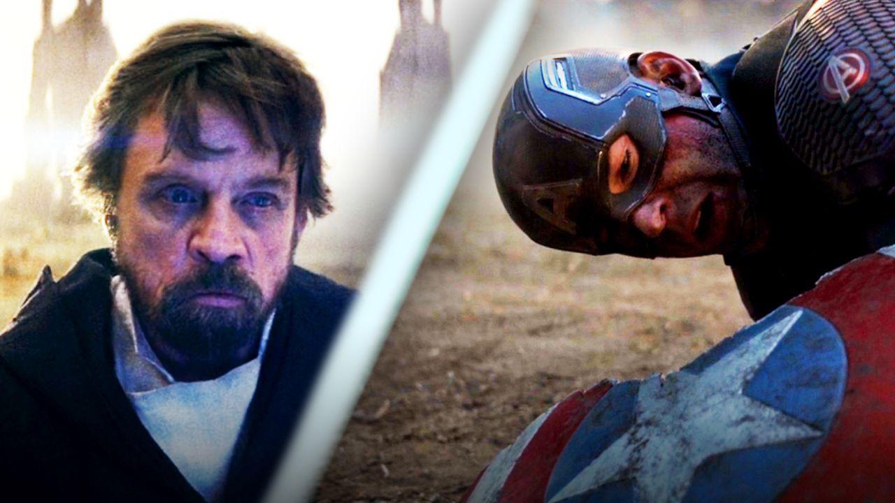 Mark Hamill as Luke Skywalker, Chris Evans as Captain America