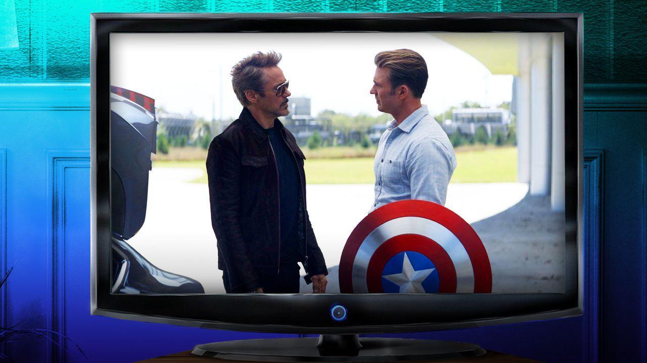 Tony Stark and Captain America shield