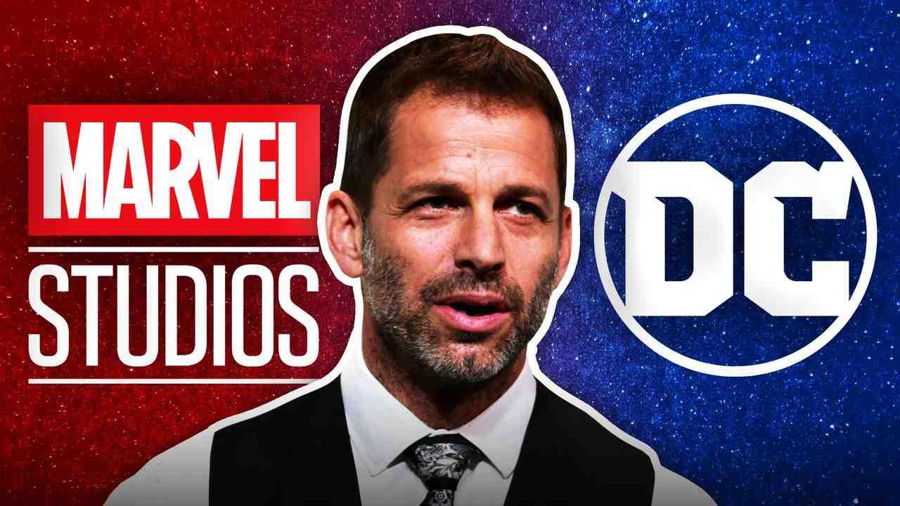Marvel Studios logo, Zack Snyder, DC logo.