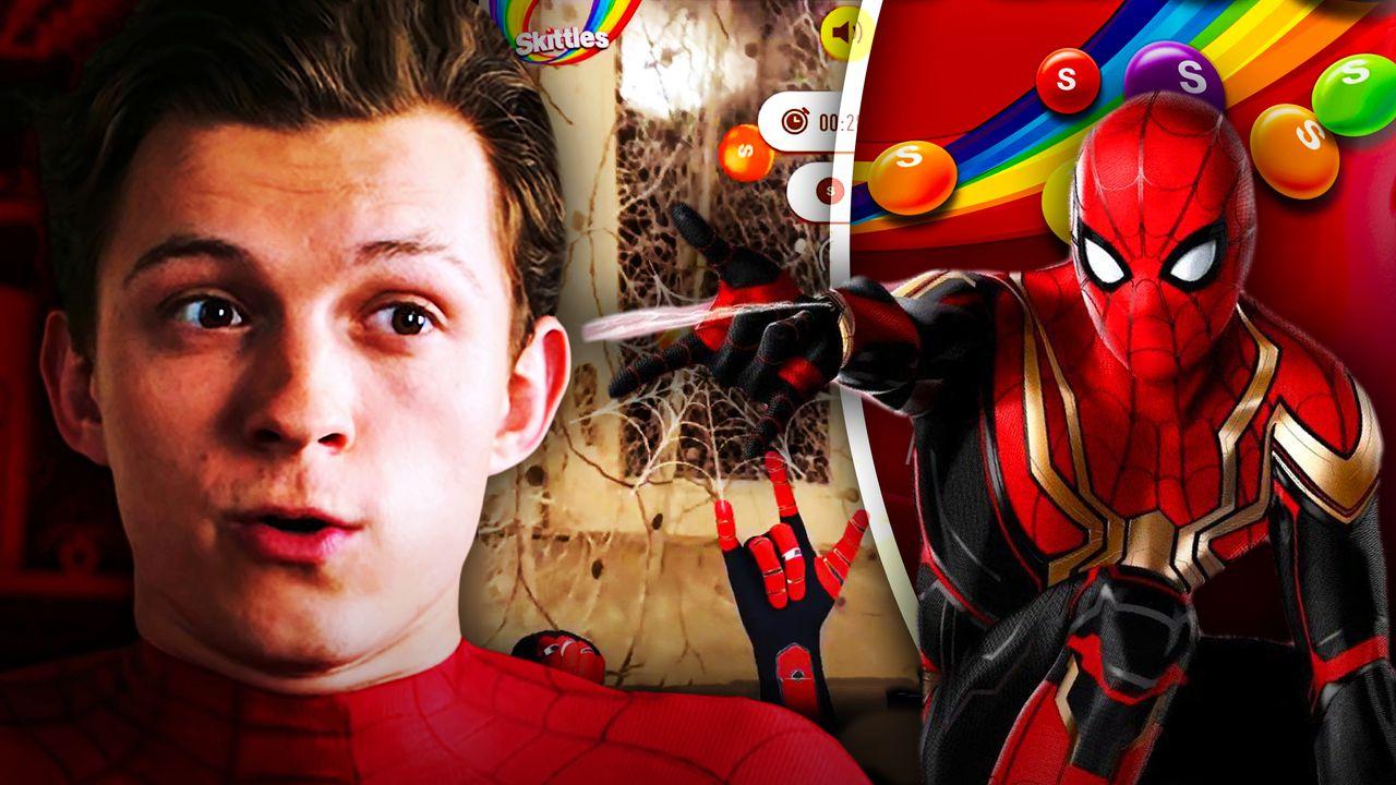 Spider-Man: No Way Home, Tom Holland, Skittles