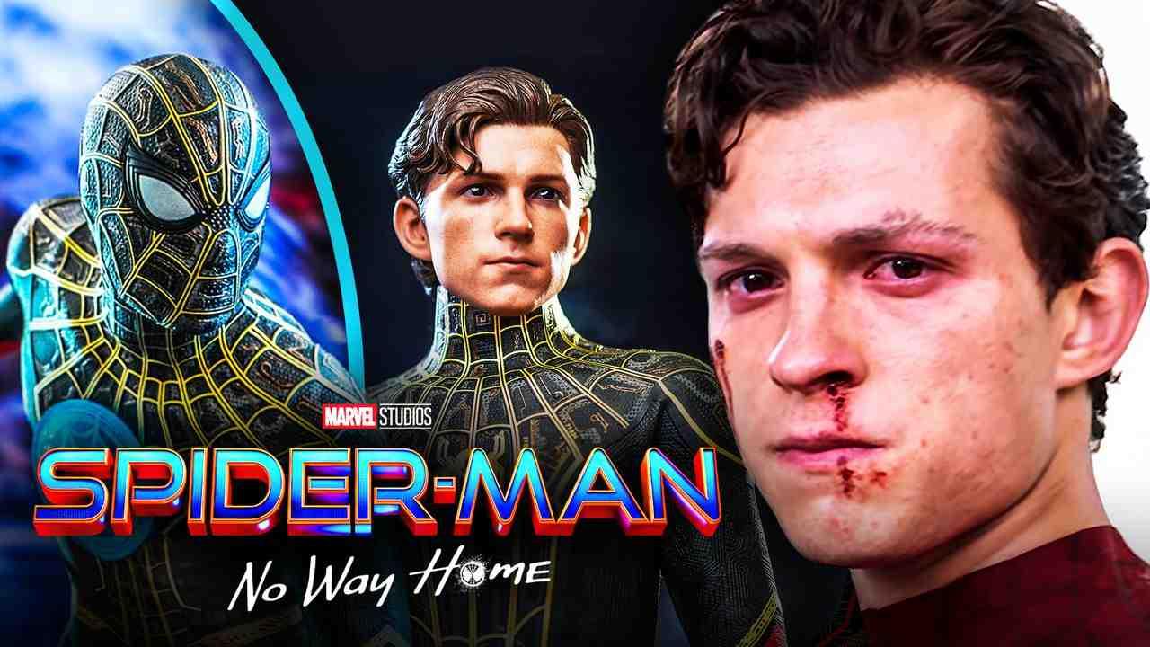 Tom Holland Spider-Man Black Gold Suit