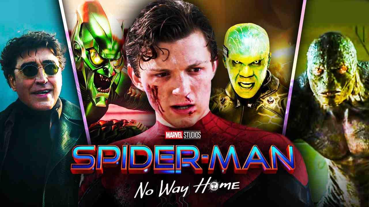 Spider-Man No Way Home, Sinister Six, Doc Ock, Green Goblin, Electro, Lizard