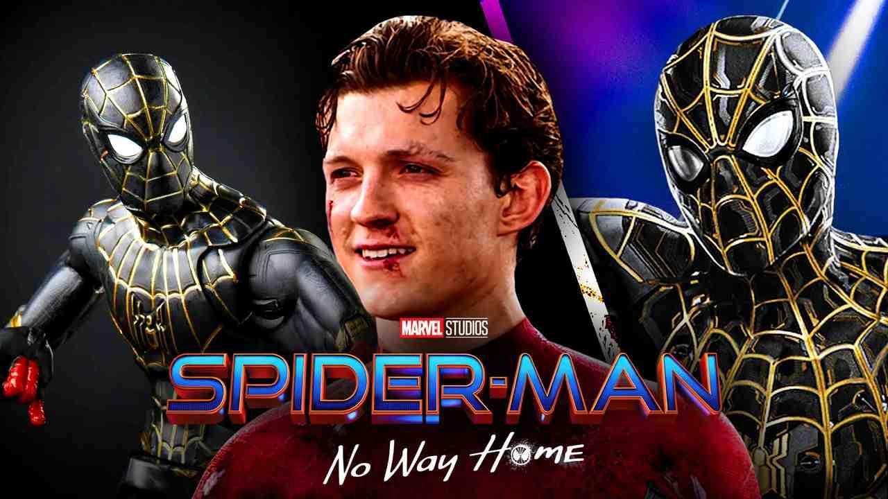 Tom Holland Spider-Man, Black and Gold Spider-Man Suit, Spider-Man Toys