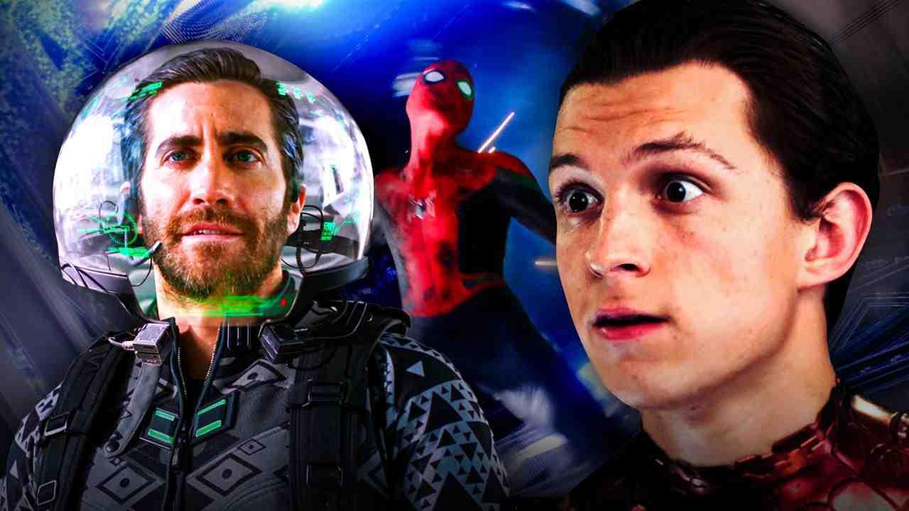 Mysterio CGI Suit Spider-Man Maskless