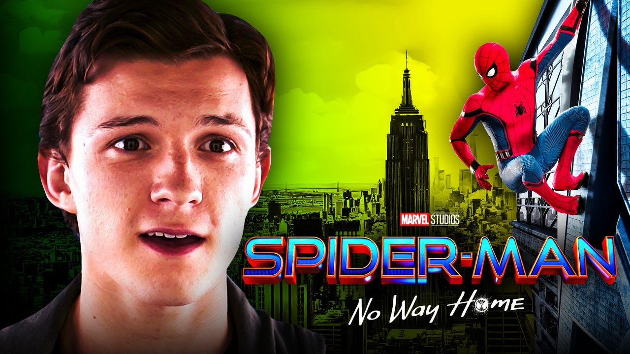 Spider-Man: No Way Home logo, Tom Holland as Peter Parker, Spider-Man