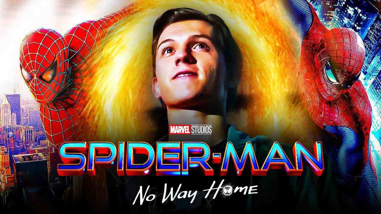 Spider-Man, Spider-Man: No Way Home logo, Tom Holland as Peter Parker