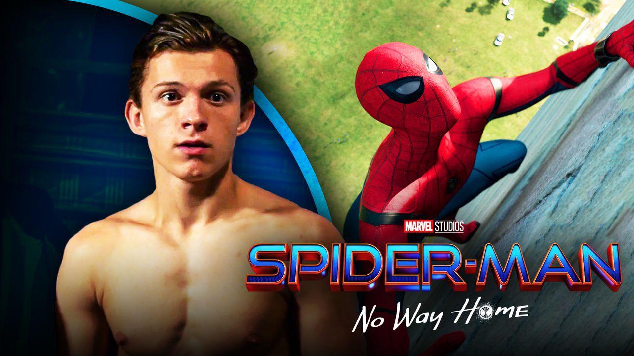 Tom Holland No shirt Spider-Man