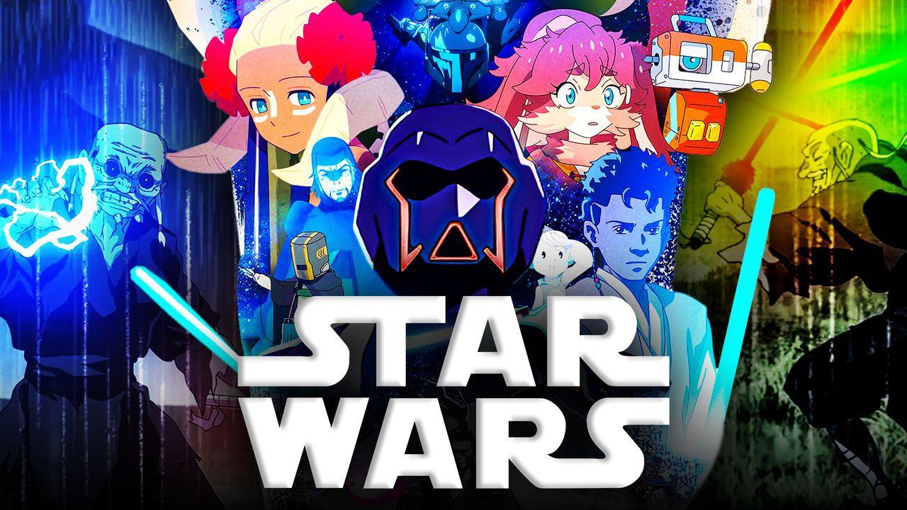 Star Wars Visions Background Desktop Poster, Star Wars logo