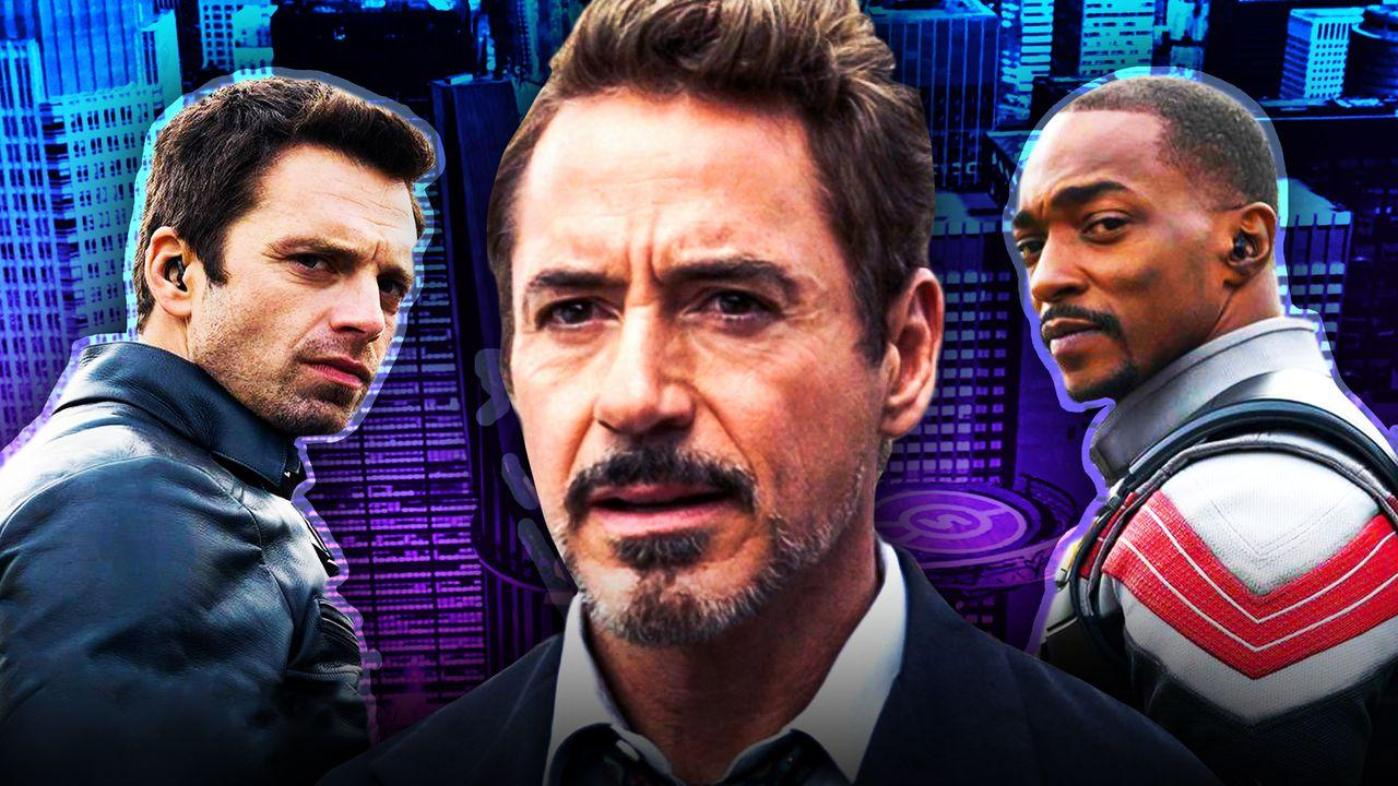 Tony Stark Falcon and Winter Soldier