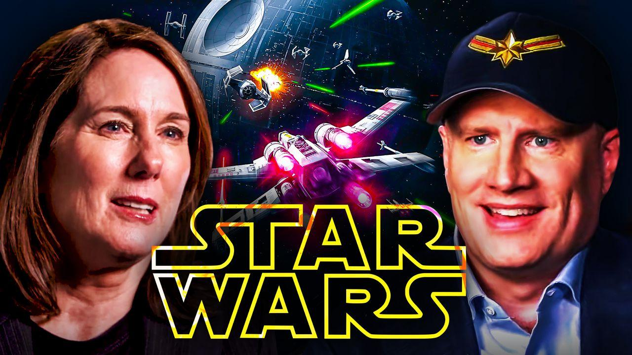 Star Wars logo Kathleen Kennedy Kevin Feige
