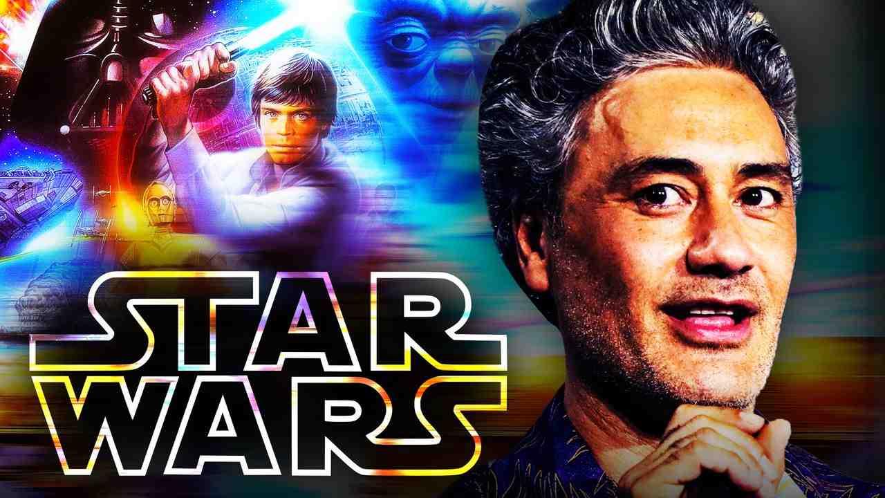 Taika Waititi, Star Wars logo, Mark Hamill as Luke Skywalker