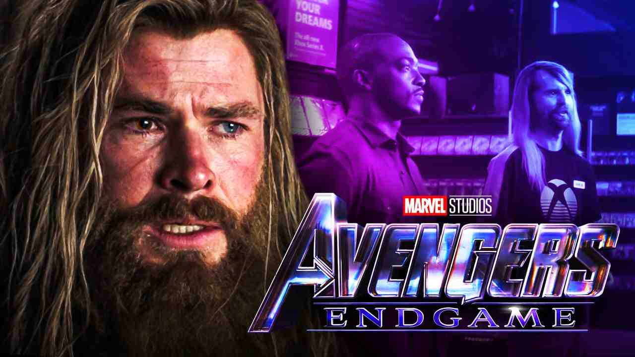 Avengers Endgame Thor with Falcon and Aaron