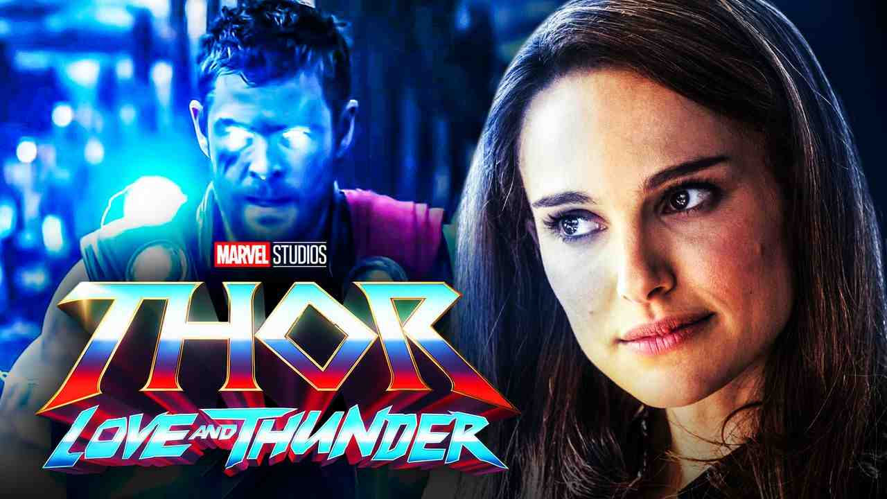 Thor: Love and Thunder logo, Natalie Portman, Chris Hemsworth as Thor