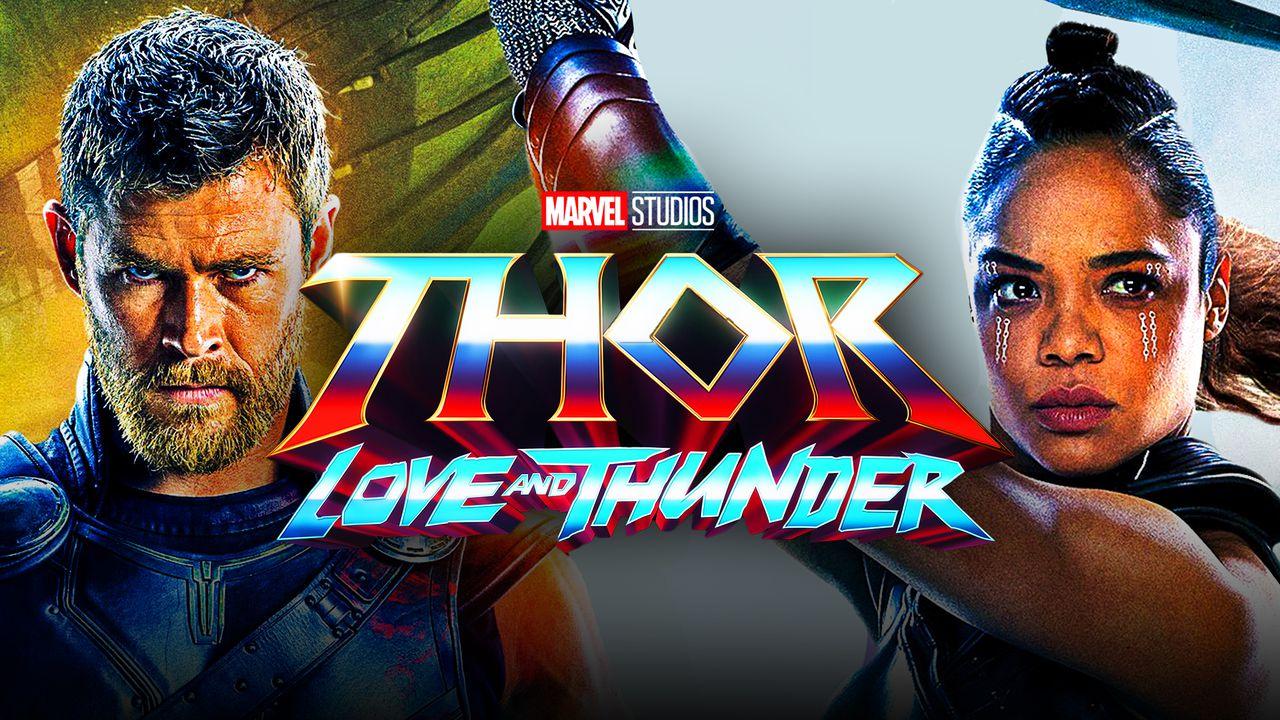 Tessa Thompson as Valkyrie, Thor: Love and Thunder Logo, Chris Hemsworth as Thor
