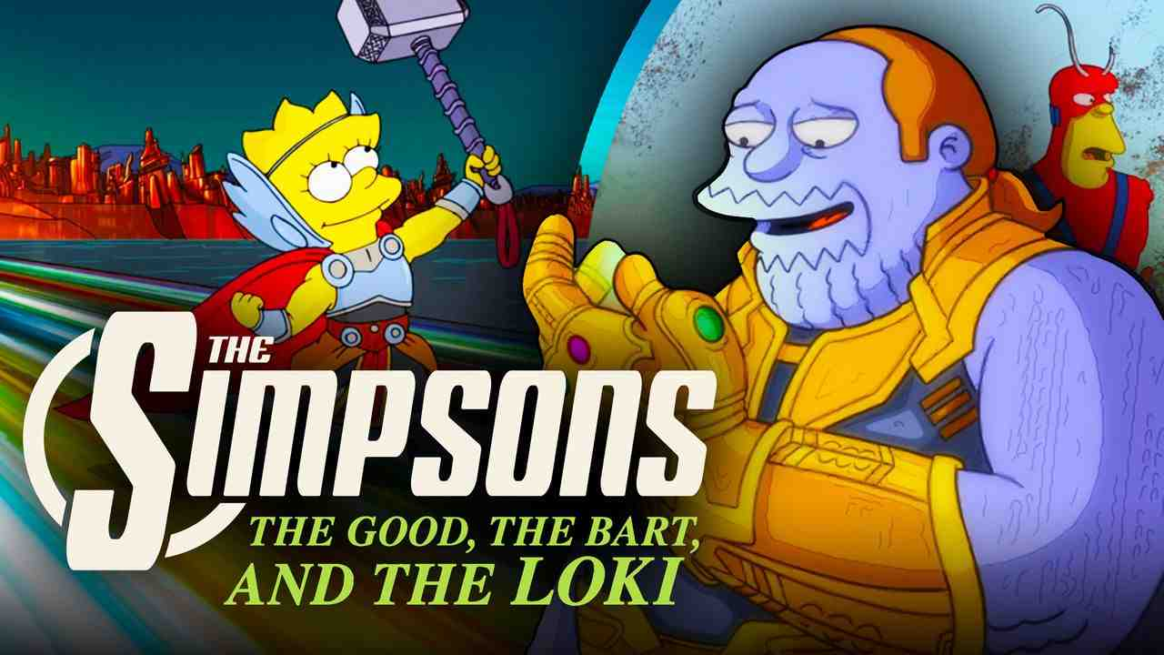 The Simpsons Comic Book Guy Thanos and Thor Lisa