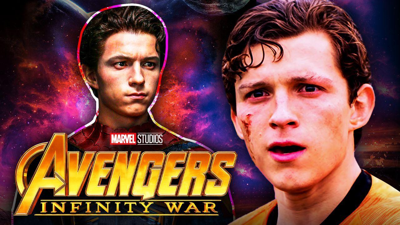 Spider-Man, Tom Holland, Avengers Infinity War logo