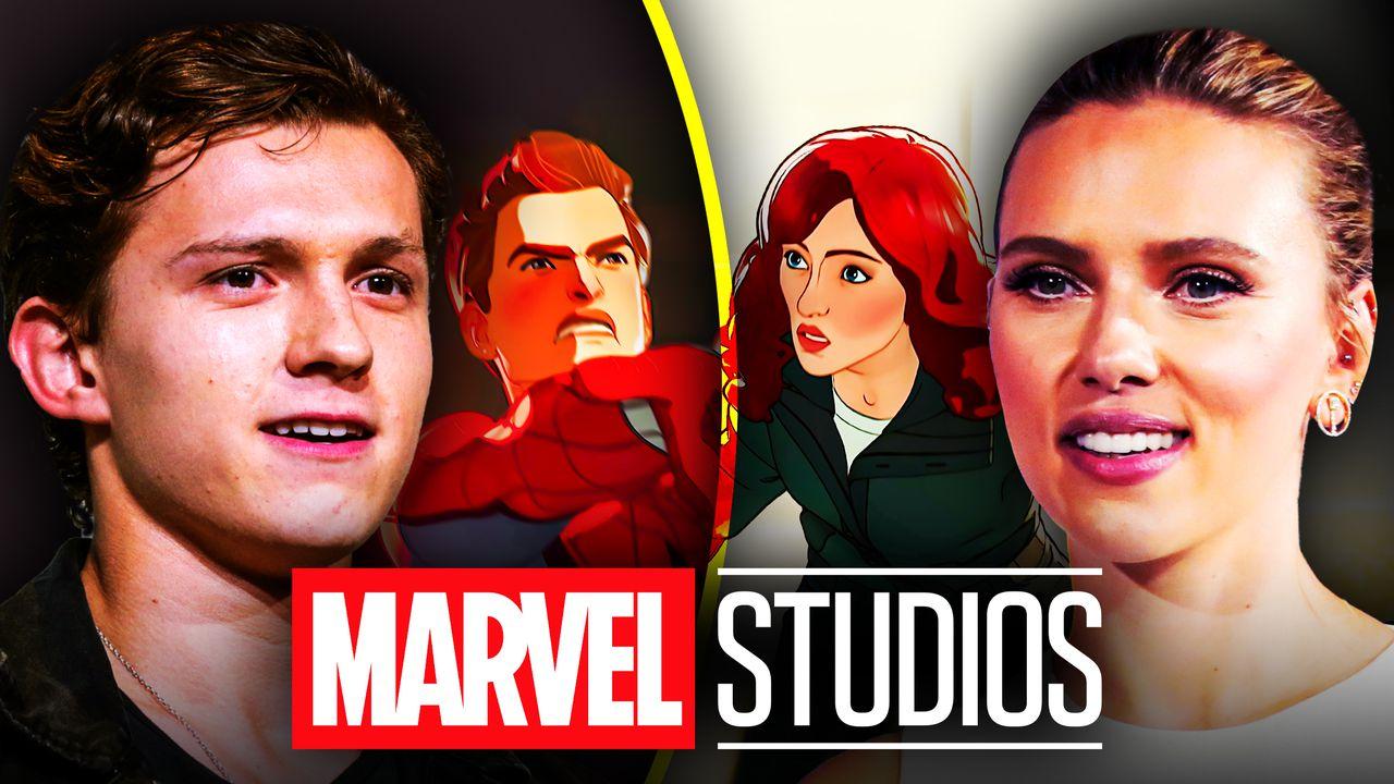Tom Holland, Scarlett Johansson, Spider-Man, Black Widow