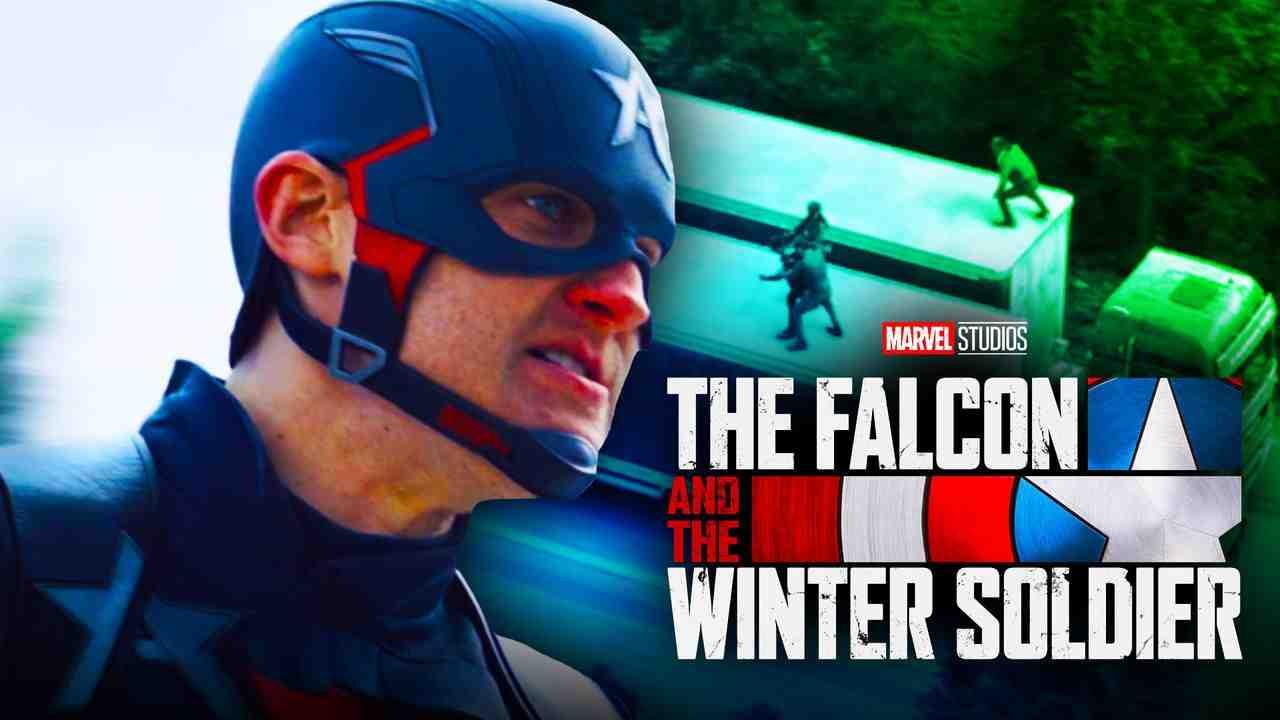 John Walker Captain America with Truck Action Scene