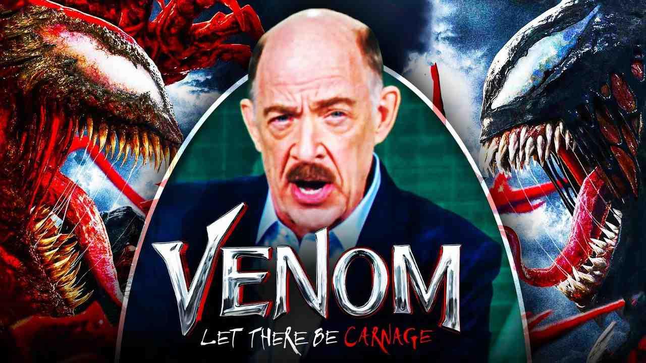 J.K. Simmons as J. Jonah Jameson, Venom: Let There Be Carnage logo, Venom, Carnage