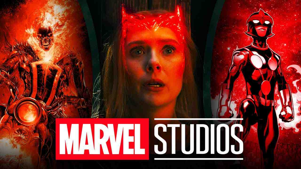 WandaVision logo, Marvel Studios logo