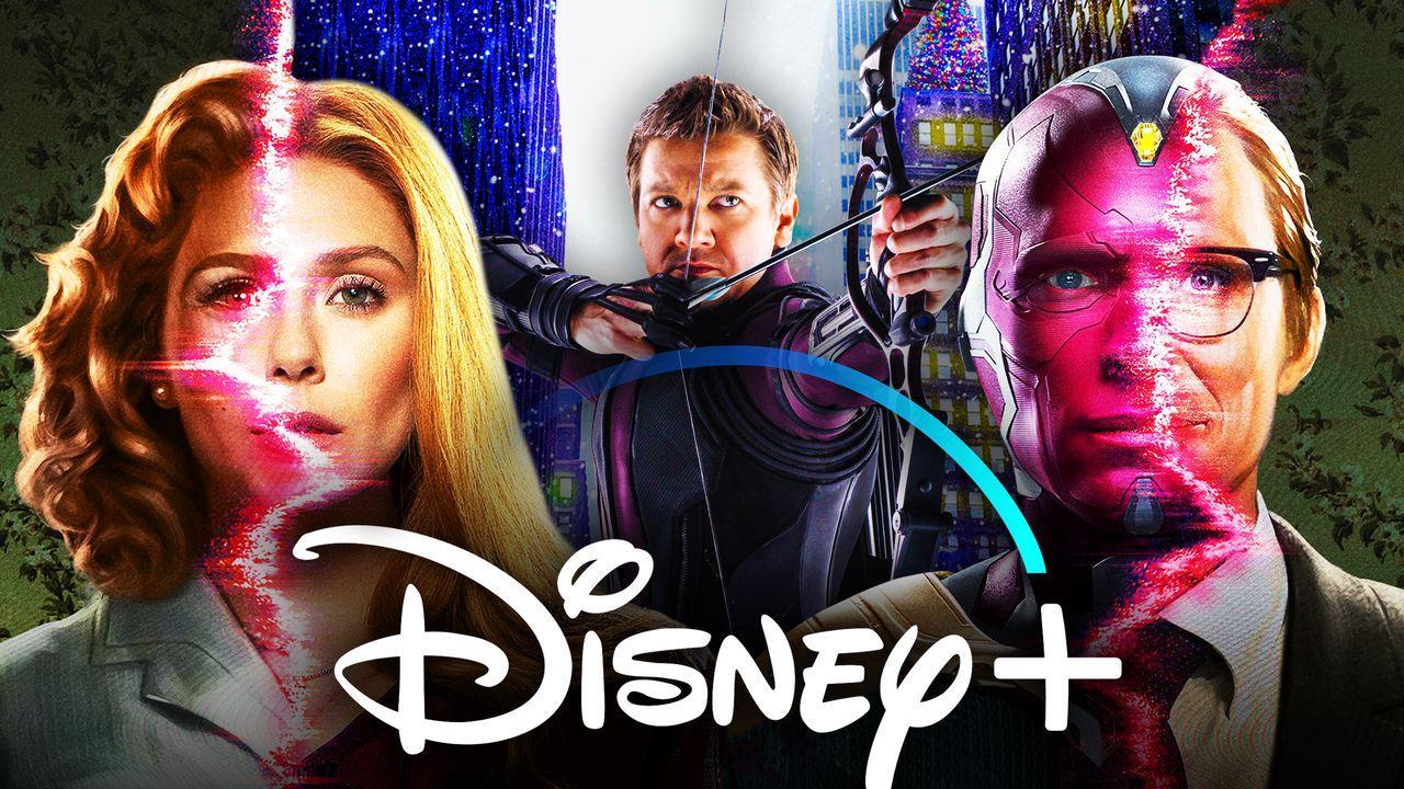 WandaVision Hawkeye Disney Plus logo