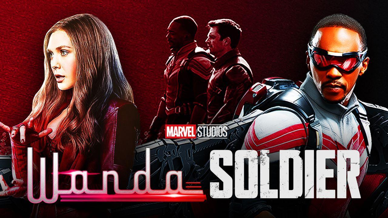 Elizabeth Olsen as Wanda Maximoff, Anthony Mackie as Sam Wilson, Sebastian Stan as Bucky Barnes