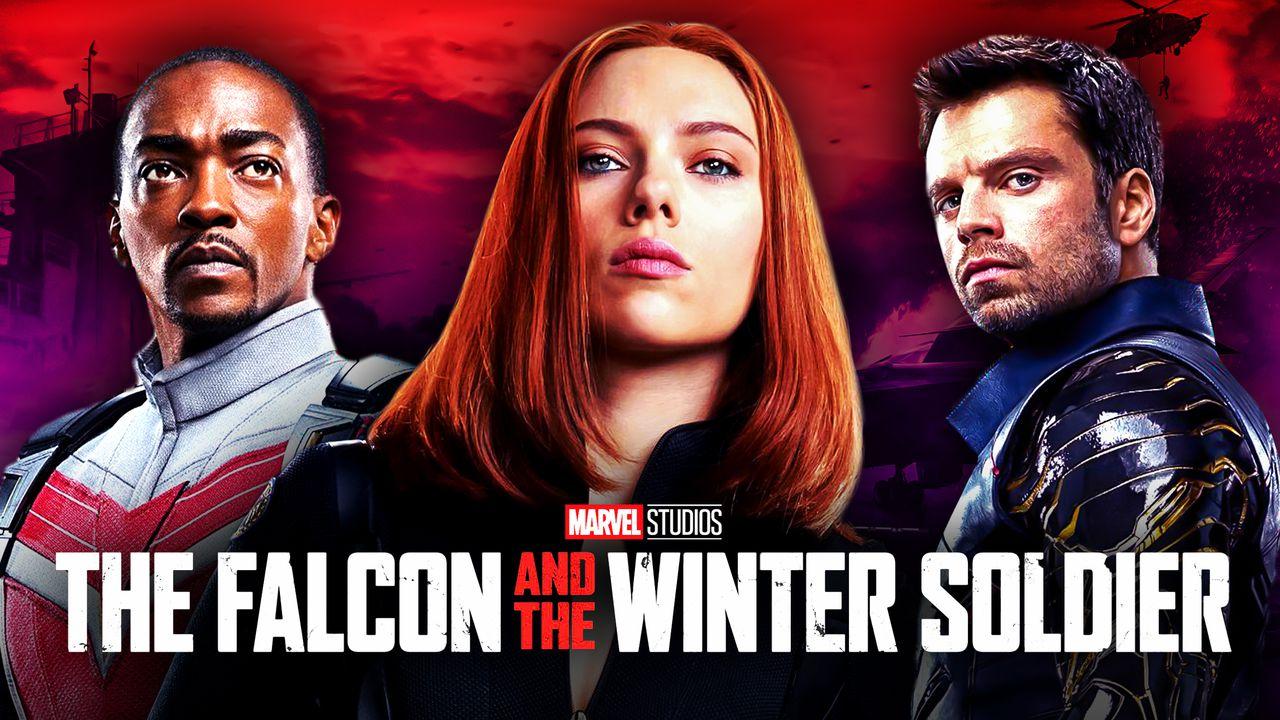 Falcon, Winter Soldier, Scarlett Johansson as Natasha Romanoff